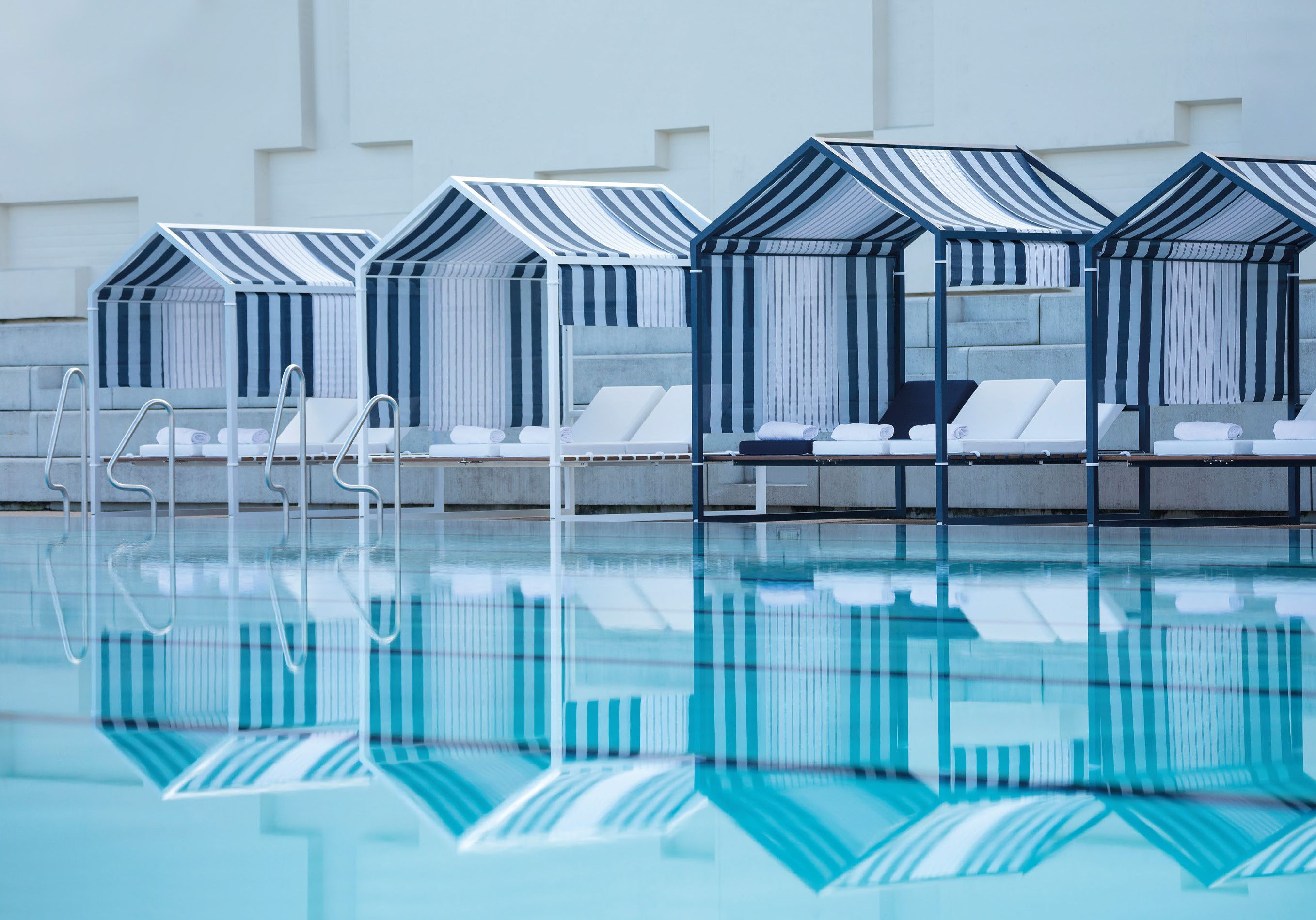 Cabines De Plage By Ego Paris Cabin Design Roof Panels Blue Roof