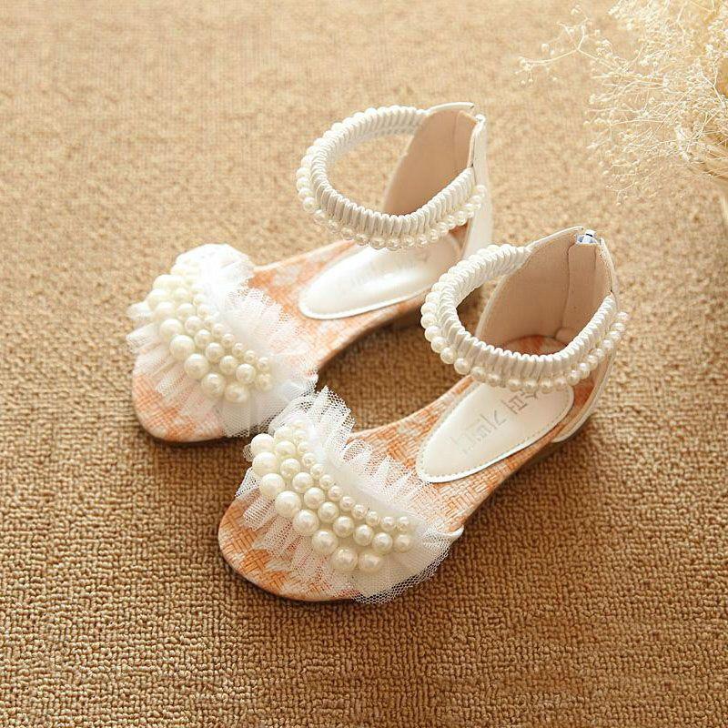 2017 New Fashion Manik-manik Kulit Sandal Anak-anak Flat Tunggal Sepatu  Anak Ritsleting Luar Comfordtable Putri Untuk Anak Perempuan 6672e0054835