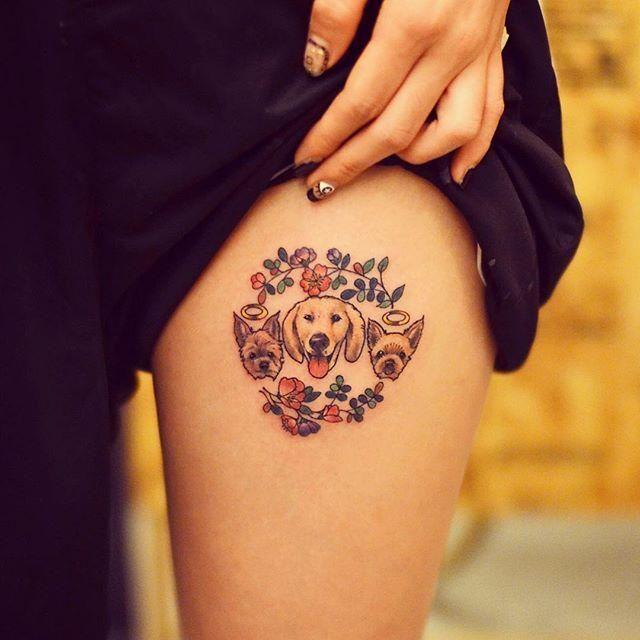 70 Tatuagens de Cachorros Lindas e Inspiradoras Para Conferir