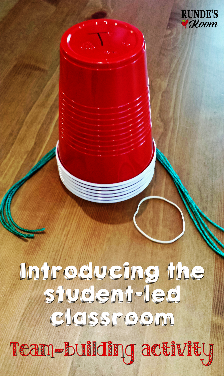 Introducing The Student Led Classroom Team Bldg Red Cups String Or