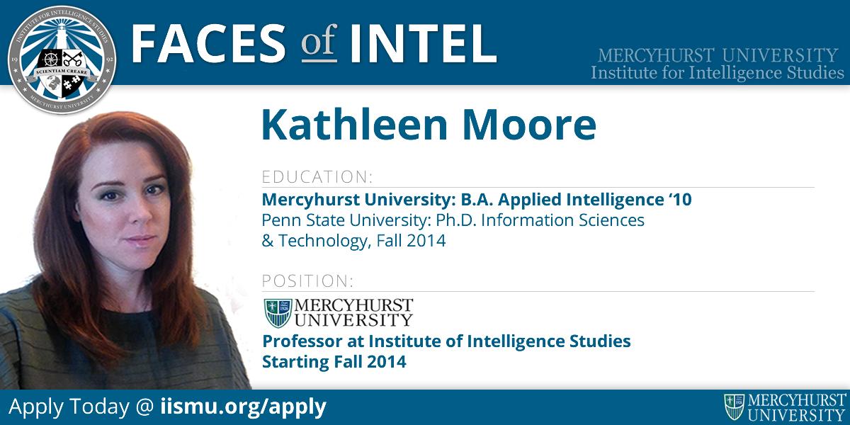 Kathleen Moore went from attending Mercyhurst for Intel to teaching