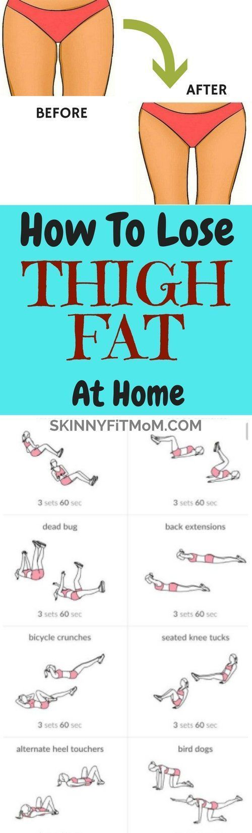 10 Best Exercises To Lose Thigh Fat Fast At Home #fitness #exercises
