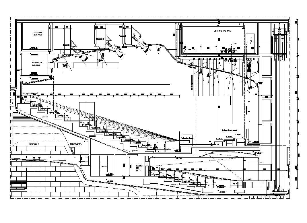 2??cad??? Auditorium Section 2 Cad Design Free Cad Blocks Drawings
