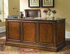 Hooker Furniture Brookhaven Double Pedestal Drawer Desk - Baer's Furniture - Double Pedestal Desk