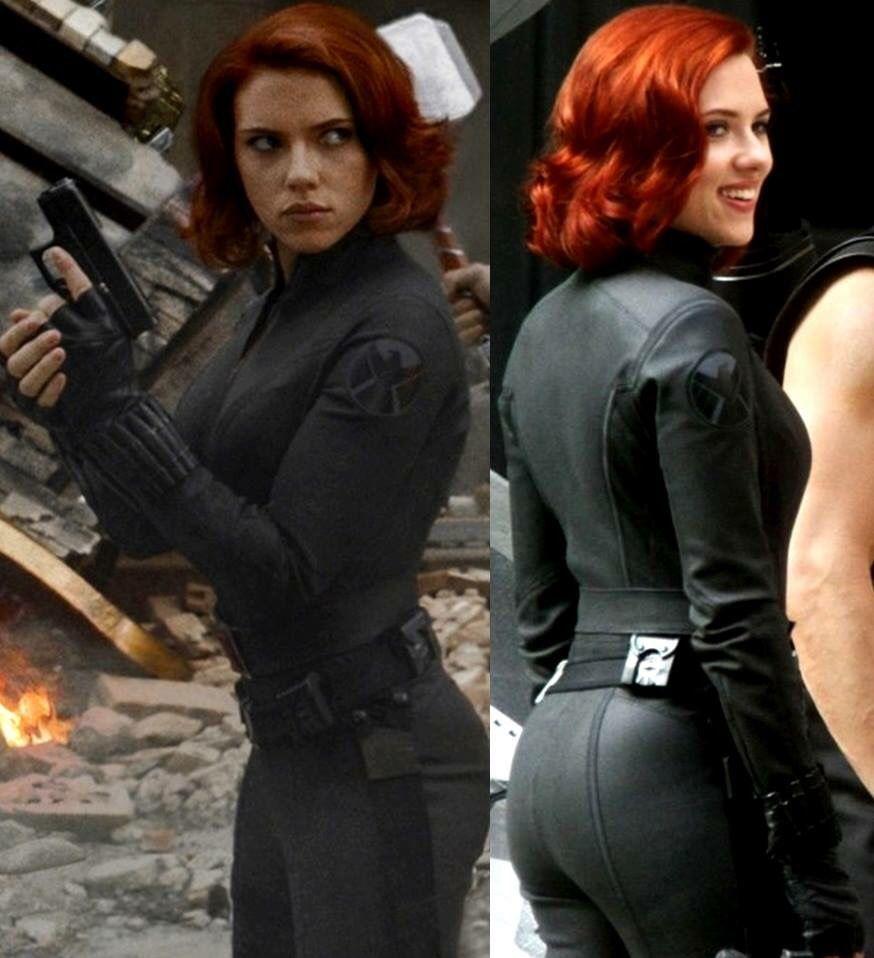 Johansson black scarlett widow hot Scarlett Johansson