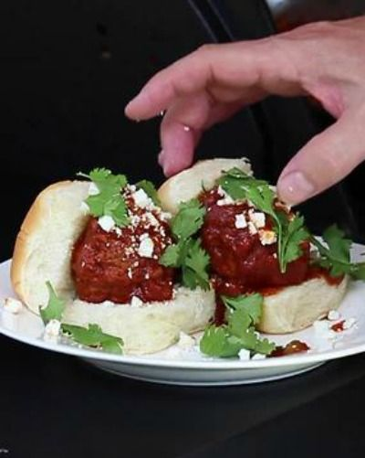 Mexican Meatball Sliders
