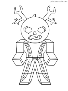 roblox coloring pages print and color