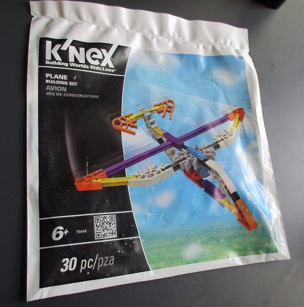 K'nex Airplane Building Set 30 pieces Plane New Package Party Favor