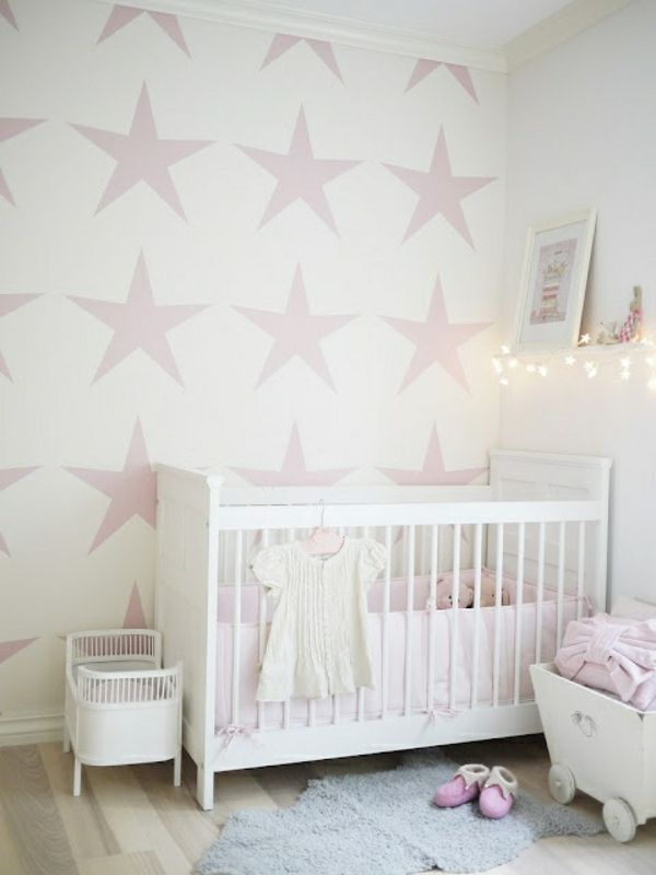 malerschablone sterne f r wandgestaltung im babyzimmer. Black Bedroom Furniture Sets. Home Design Ideas