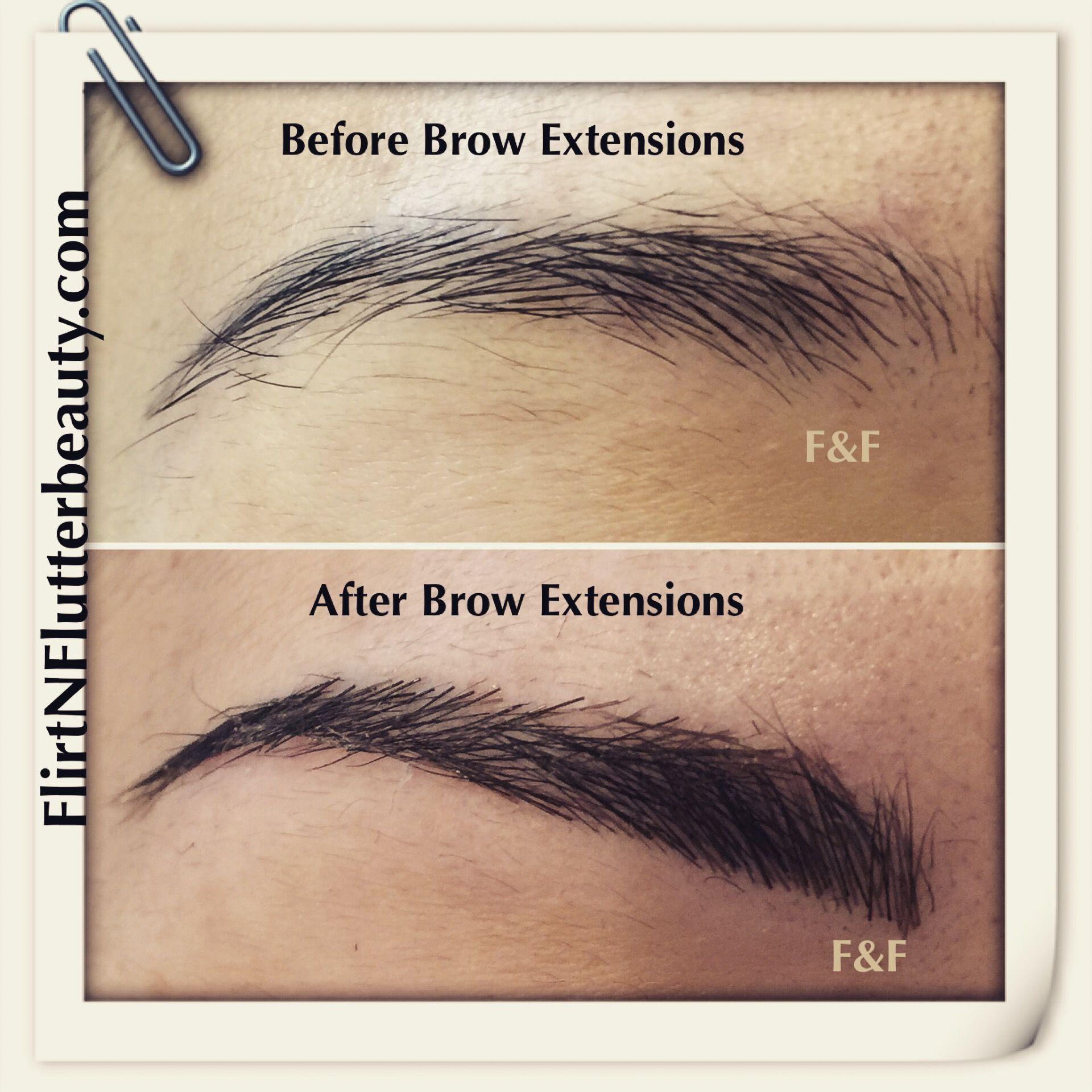 Pin by Flirt & Flutter Beauty on Eyebrow Extensions | Brow ...