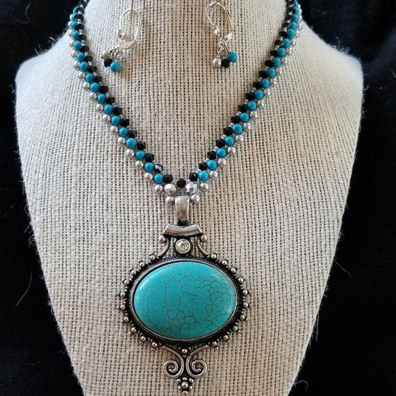 Check out this item in my Etsy shop https://www.etsy.com/listing/479015085/tempting-turquoise-pendent-set