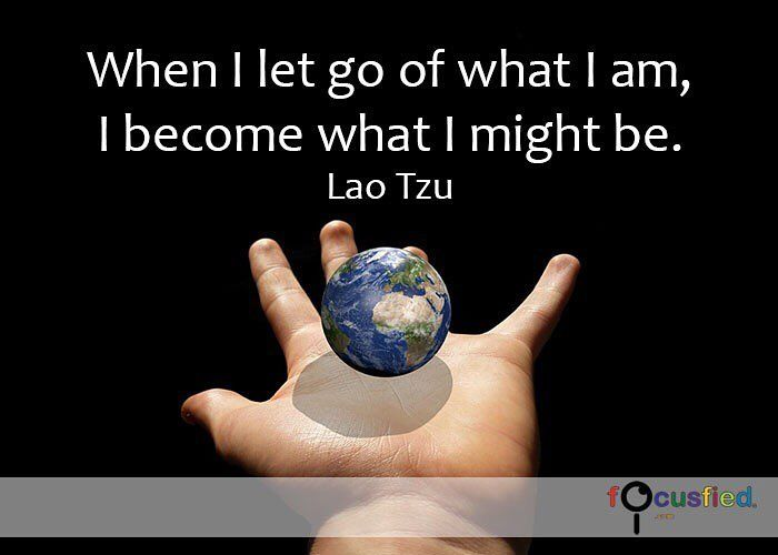 """""""When I let you of what I am, I become what I might be."""" #quote"""