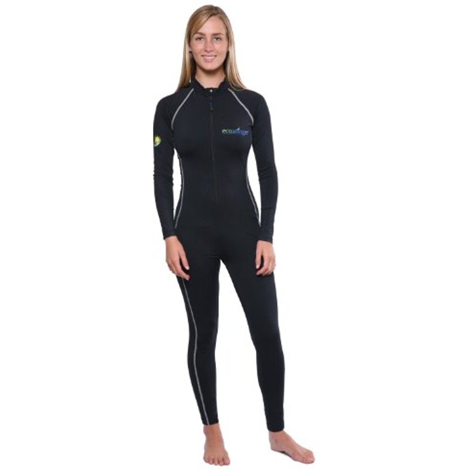 390368a91b0a6 Women's Sun Protection Full Body Lining Swimsuit Stinger Suit Dive Skin  UPF50 Black -- Click image for more details. (This is an affiliate link) # Swimwear