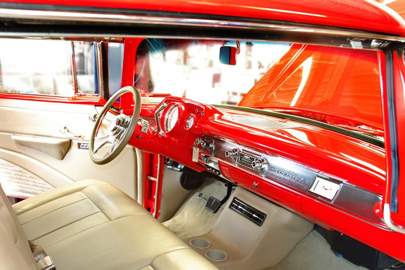 57 with modernized interior needed for commercial los angeles classic cars pinterest. Black Bedroom Furniture Sets. Home Design Ideas