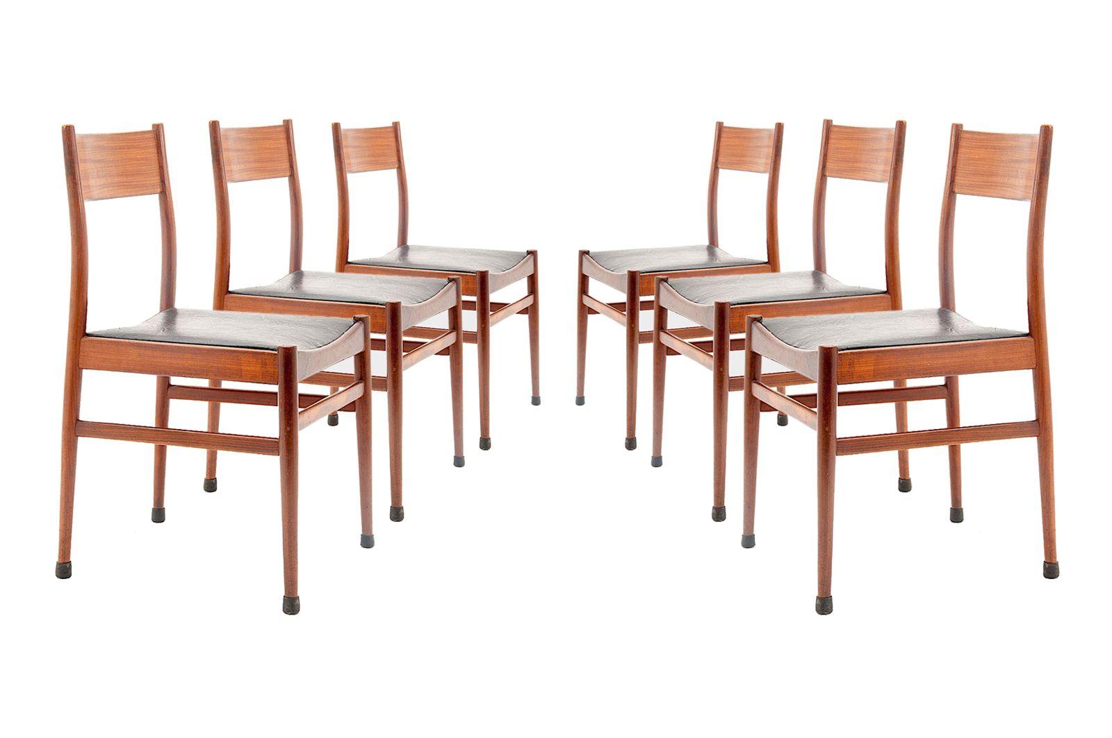 Ensemble de six chaises en Teck par Consorzio Sedie Friuli ...