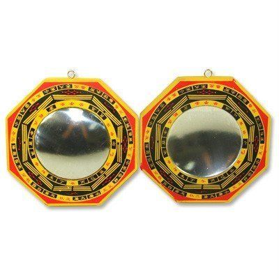 Set of 2 Chinese Feng Shui Bagua Mirror Convex and Concave >>> Want additional info? Click on the image.