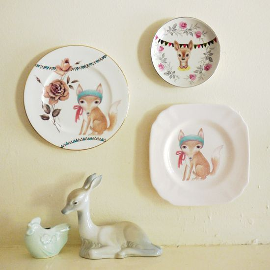 The Story Book Rabbit plates