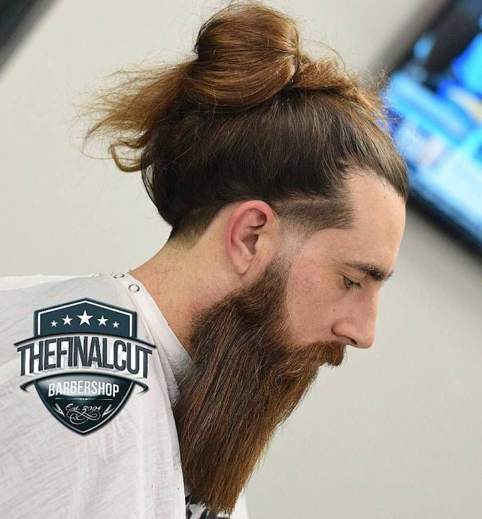 Long Hair Man Bun With Beard And Line Up Man Bun Haircut Man Bun Styles Long Hair Styles Men