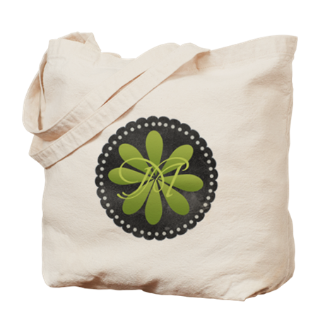 Cool Green Monogram Tote Bag by Technotext Monogram tote