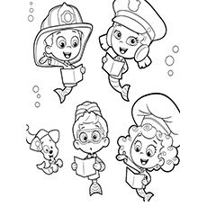 Bubble guppies halloween coloring pages ~ Bubble Guppies Coloring Pages - 25 Free Printable Sheets ...