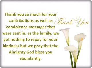 ThankYouSympathyCardsMessage  Thankful    Sympathy