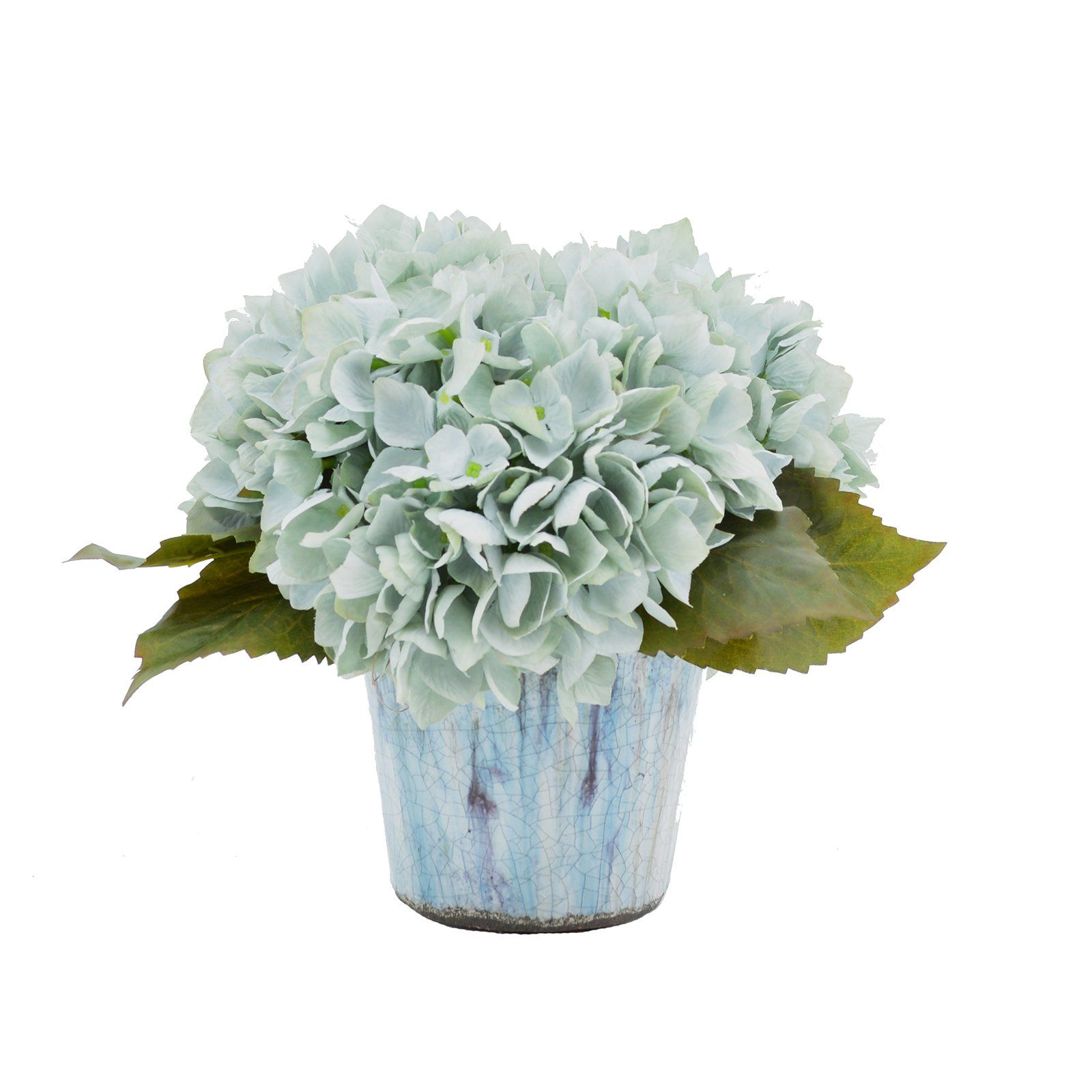 Creative Displays & Designs Blue Hydrangea Silk Flower Arrangement - CDFL3680