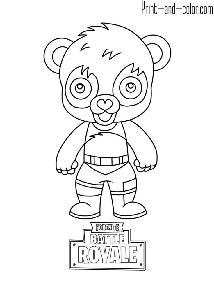 Fortnite battle royale coloring page Panda Team Leader