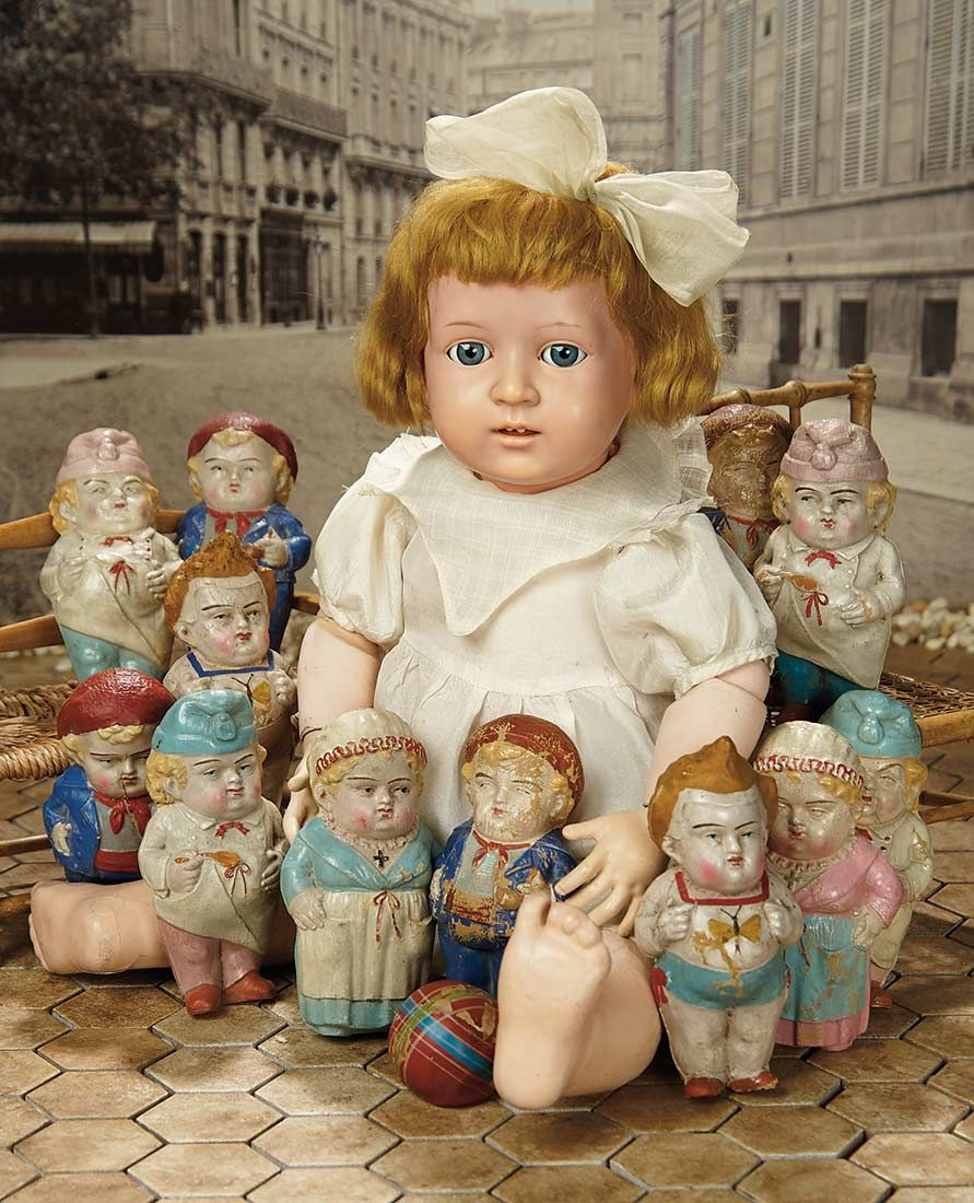 """""""Fascination"""" - Sunday, January 8, 2017: 388 Rare German Celluloid Doll by Schildkrot Commissioned for SFBJ"""