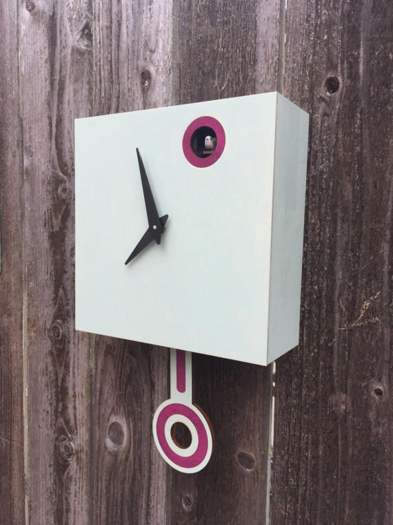 Cuckoo Clock Wall Mount With Cuckoo Bird Driftwood With Cherry Blossom Accents Modern Cuckoo Clocks Clock Cuckoo Clock