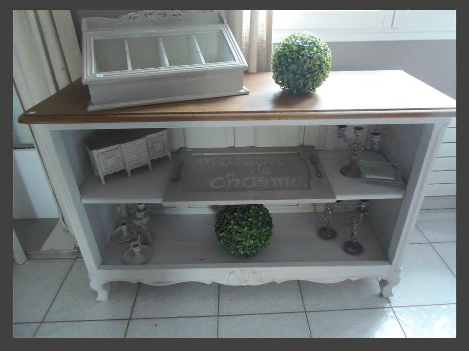 meuble biblioth que de charme relooker par en ch ne relooking. Black Bedroom Furniture Sets. Home Design Ideas