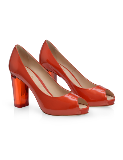 #HOGAN Women's Spring - Summer 2013 #collection: patent leather open-toe #pumps H204.
