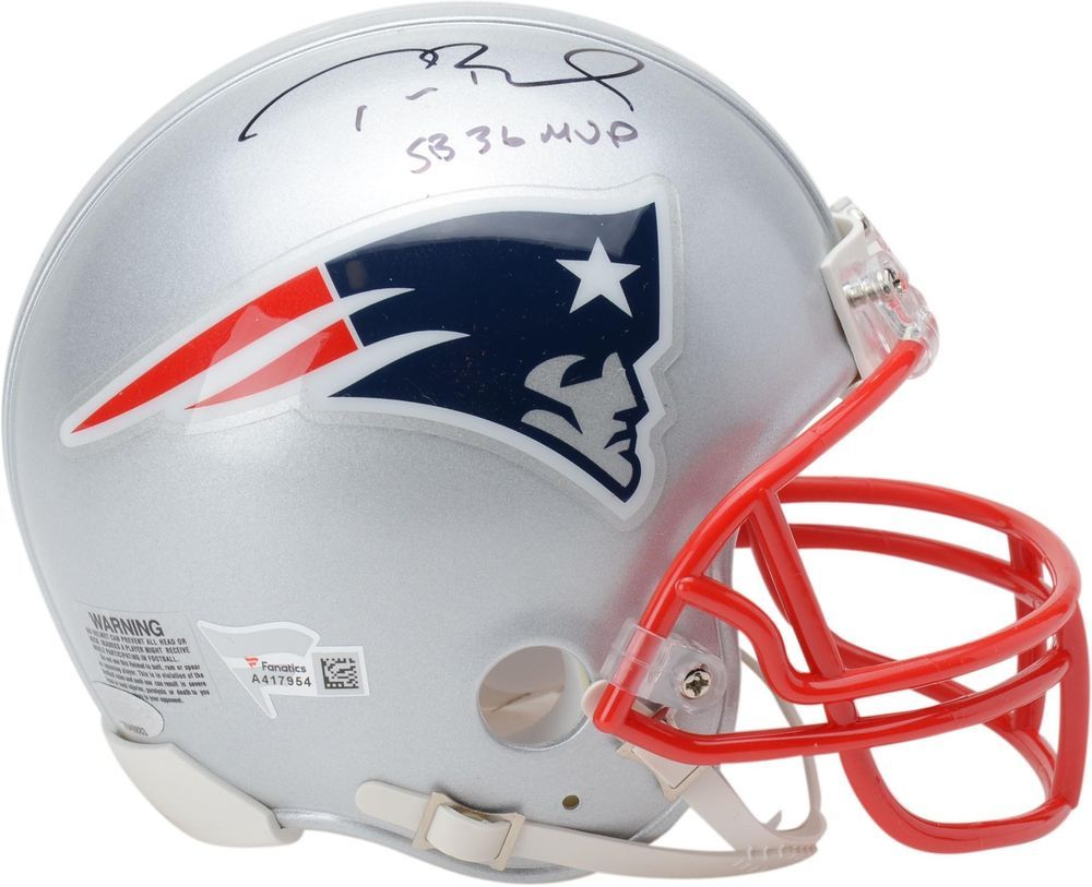 Autographed tom brady patriots mini helmet fanatics