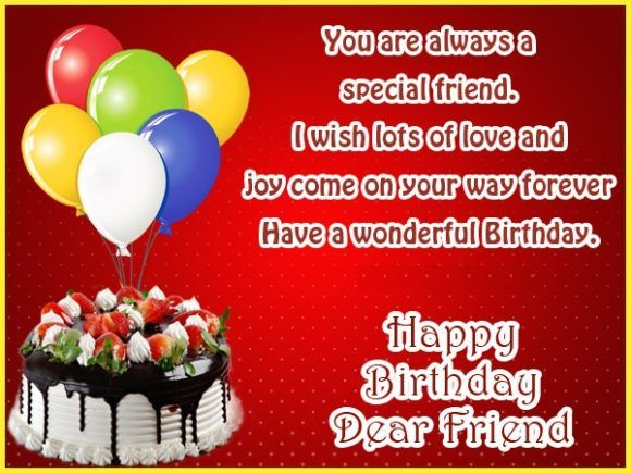 Birthday Wishes For Best Friend With Images Happy Birthday Dear