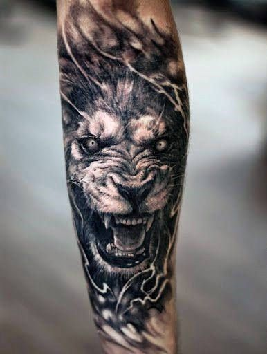 Mens Angry Lion Forearm Sleeve Tattoo Design Ideas Mens Lion Tattoo Lion Forearm Tattoos Lioness Tattoo