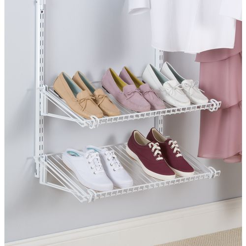 The Shoe Shelf Kit Is An Easy Add On To Any Configurations Kit. It Holds 6  To Of Shoes On 2 Shelves That Are Angled For Clear Display And Easy Access.