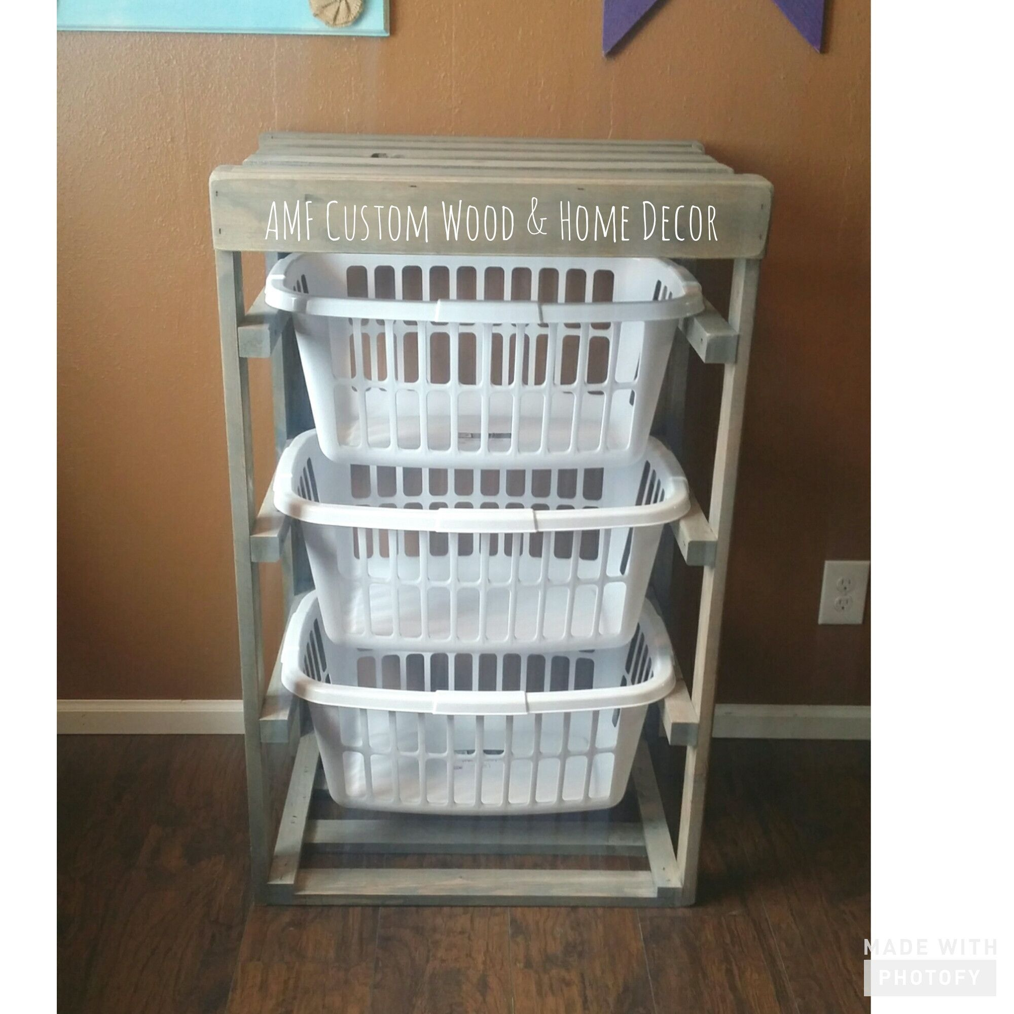 Rustic Wood Laundry Basket Holder Laundry Basket Holder Laundry Basket Storage Laundry Room Decor