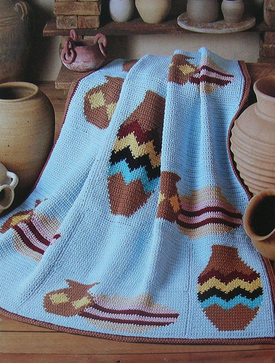 Navajo Pottery Afghan ~ CROCHET PATTERN ONLY ~ Southwest Desert ...