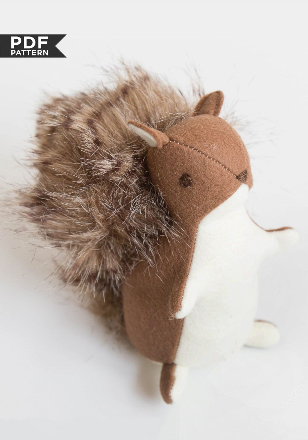Squirrel Stuffed Toy Sewing Toys Beginner Knitting Projects Sewing Projects [ 1425 x 1000 Pixel ]