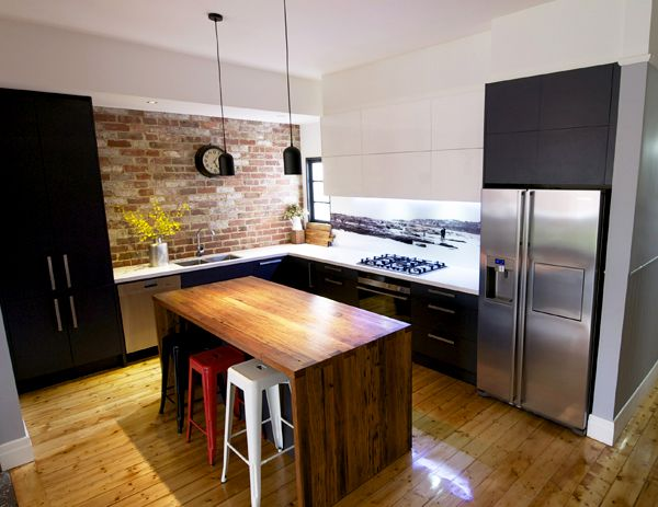 All cabs that touch the floor are one colour, continuous uppers in Modern Australian Kitchen Designs on wheelchair friendly kitchen design, cafe style kitchen design, bistro style kitchen design,
