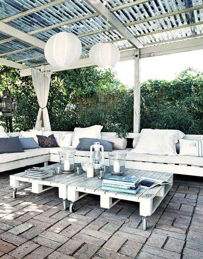 meuble de jardin en palette de bois - Decoration Jardin Palette De Bois