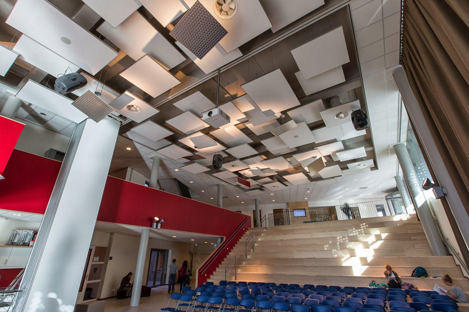 Acoustic ceiling ROCKFON (Islands) UW College Maastricht