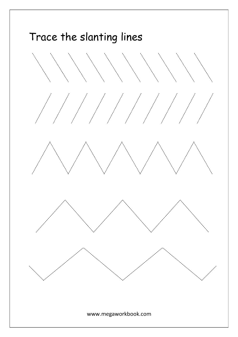 free printable pre writing tracing worksheets for. Black Bedroom Furniture Sets. Home Design Ideas