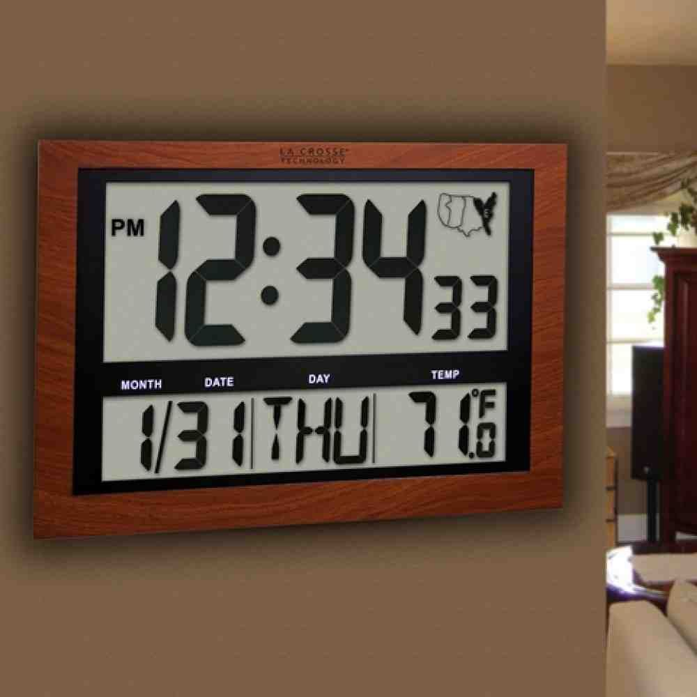Atomic Digital Wall Clock Large Display Digital Wall Clock