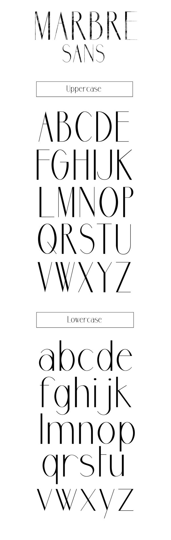 Marbre Sans Free Font By Youssef Habchi Via Behance