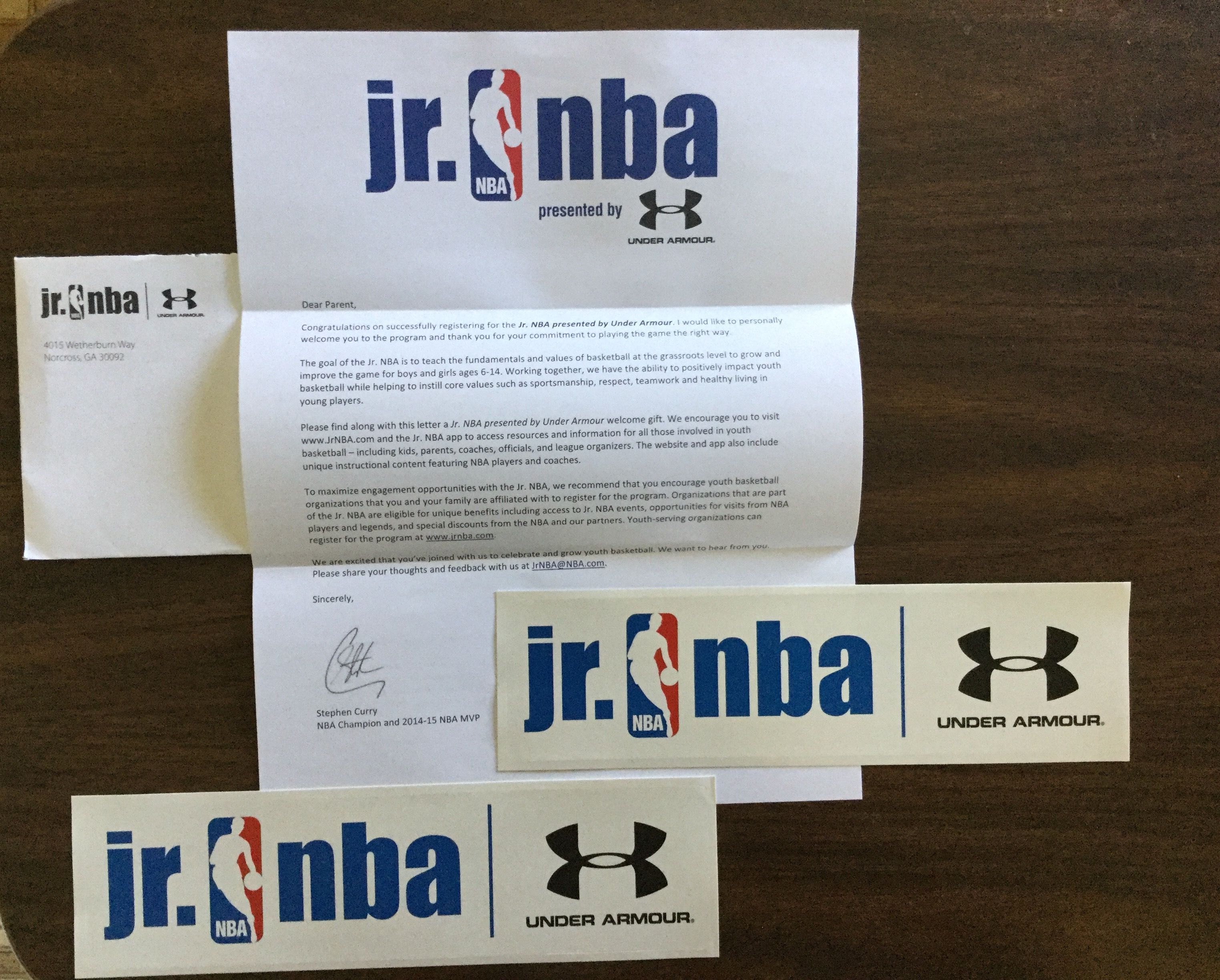 free under armour samples