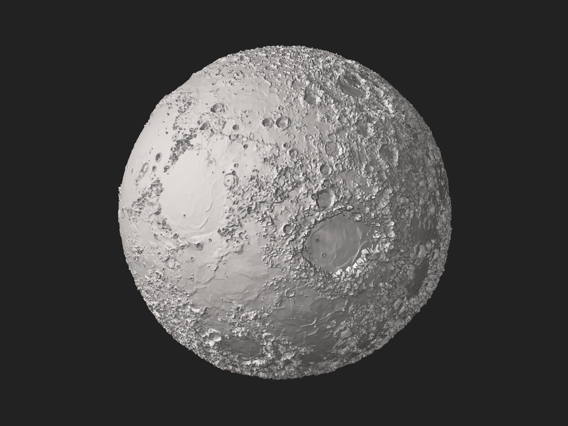Moon Wikipedia Stl 3d Model Of The Moon With 10 Elevation Exaggeration Rendered With Data From The Lunar Orbiter Laser Altimeter Of Topography Moon Lunar