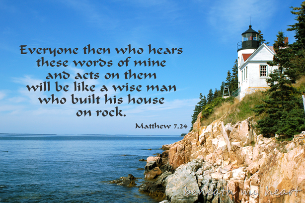 Building on a Strong Foundation | House on the rock, Words of ...