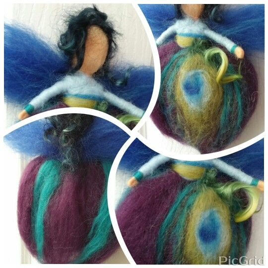Whimsical Peacock Fairy by HappyELMWool