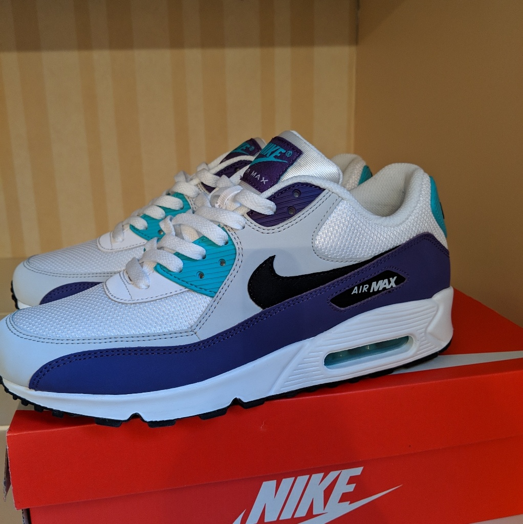 Nike Shoes | Nike Air Max 90 Essentials | Color: BluePurple
