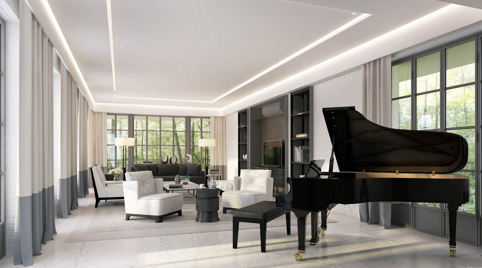 Another Day, Another Grand Piano. This Lovely Living Room Would Have You  Longing To Part 52